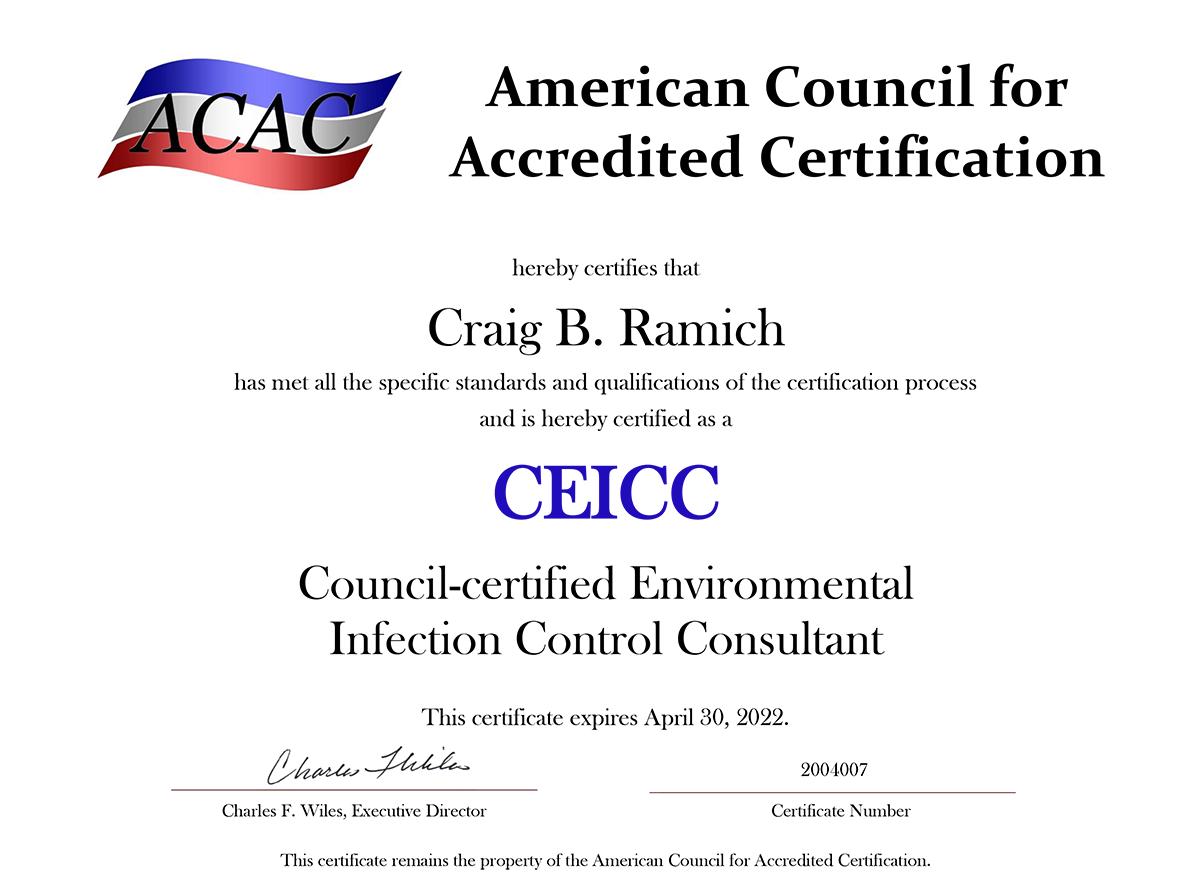 CEICC Award Certificate